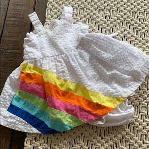 Youngland baby dress  with rainbow 3-6 months GUC